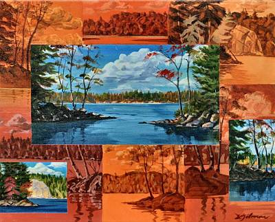 Painting - Mink Lake Looking North West by David Gilmore