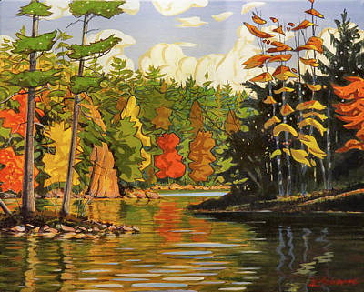 Painting - Mink Lake Narrows by David Gilmore