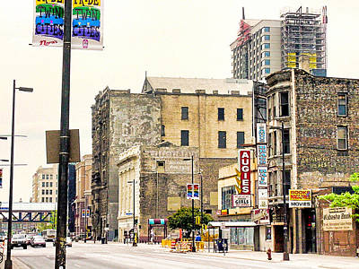 Photograph - Minneapolis-4th And Hennepin-circa 2002 by Robert Meyers-Lussier