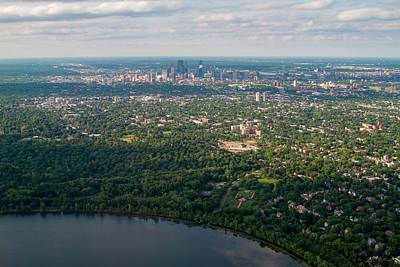 Photograph - Minneapolis Aerial View 4 by Bonnie Follett