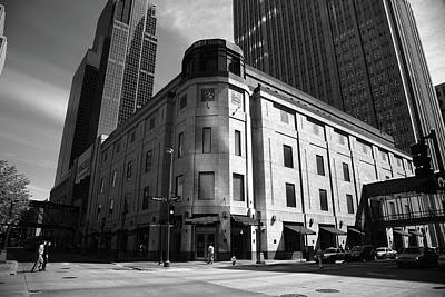 Print featuring the photograph Minneapolis Downtown Bw by Frank Romeo