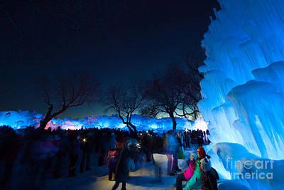 Minneapolis Ice Castles I Art Print