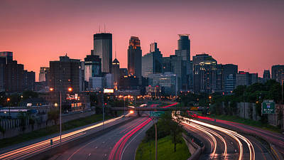 Traffic Photograph - Minneapolis In Motion by Josh Eral