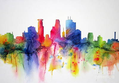 Minneapolis Skyline Painting - Minneapolis Magic by Deborah Ronglien