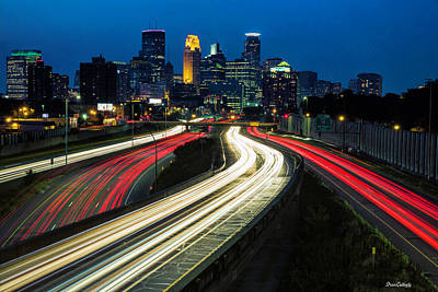 Photograph - Minneapolis Night Skyline by Fran Gallogly