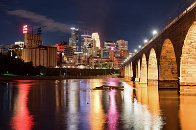 Photograph - Minneapolis Nights by Ryan Heffron