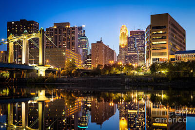 Minneapolis Reflections On The Mississippi Art Print by Ernesto Ruiz