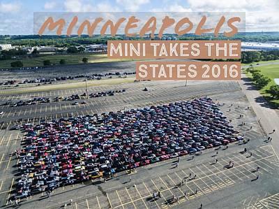 Photograph - Minneapolis Rise/shine 2 W/text by That MINI Show