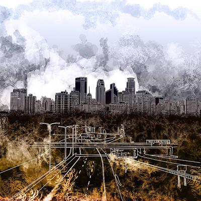 Minneapolis Skyline Abstract Art Print