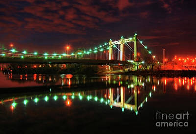 Minneapolis Skyline Hennepin Avenue Bridge Art Print by Wayne Moran