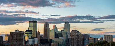 Photograph - Minneapolis Skyline Sunset by Ryan Heffron