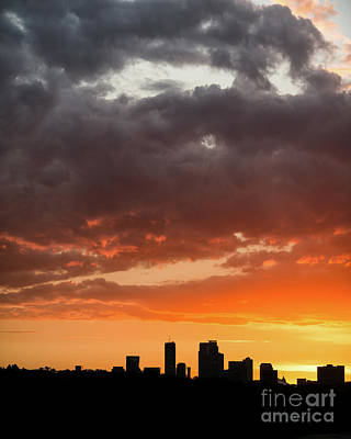 Minneapolis Sunset Silhouette Art Print