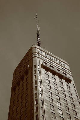 Print featuring the photograph Minneapolis Tower 6 Sepia by Frank Romeo
