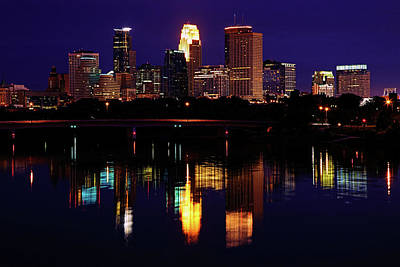 Mississippi Photograph - Minneapolis Twilight by Rick Berk