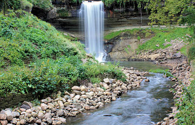 Minnehaha Falls Photograph - Minnehaha Falls Downstream by Kristin Elmquist