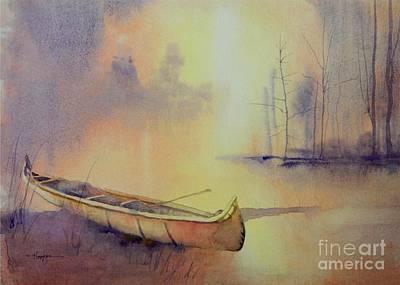 Painting - Minnehaha's Canoe by Robert Hooper
