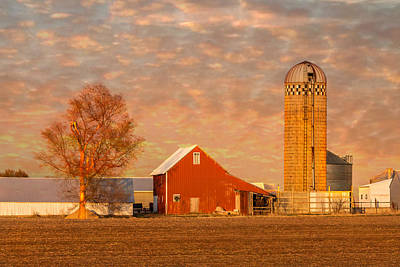 Photograph - Minnesota Farm At Sunset by Patti Deters