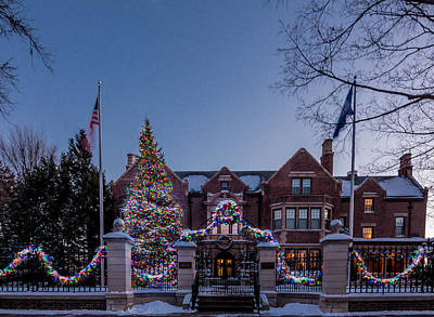 Christmas Lights Series #6 - Minnesota Governor's Mansion Art Print