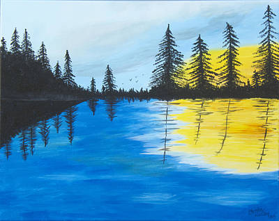 Painting - Minnesota Lakes by Christie Nicklay