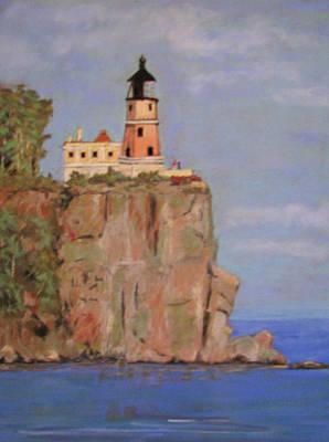 Minnesota Lighthouse Original by Marilyn Morningstar