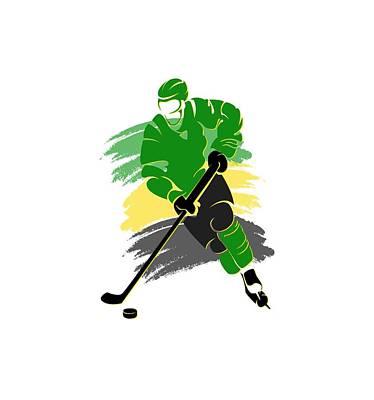 Minnesota North Stars Player Shirt Art Print by Joe Hamilton