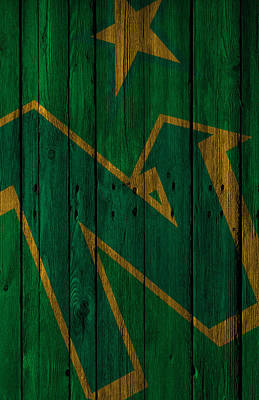 Digital Art - Minnesota North Stars Wood Fence by Joe Hamilton