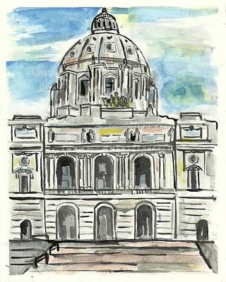 Painting - Minnesota State Capital by Matt Gaudian