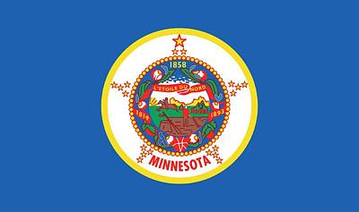 Minnesota State Flag Print by American School