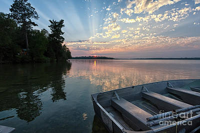 Minnesota Sunset At Deer Lake Art Print