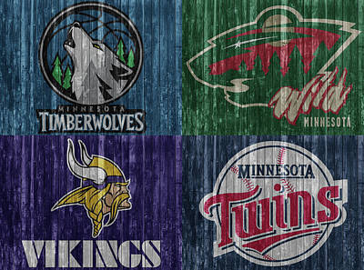 Athletes Mixed Media - Minnesota Teams by Dan Sproul