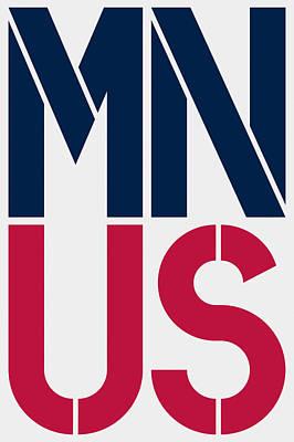 Patriotism Painting - Minnesota by Three Dots