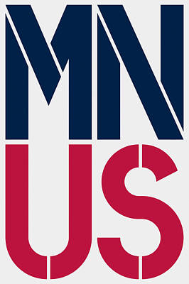 Politics Painting - Minnesota by Three Dots