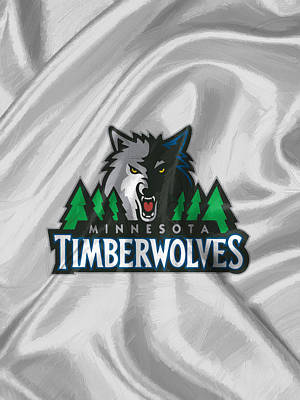 Uniforms Drawing - Minnesota Timberwolves by Afterdarkness
