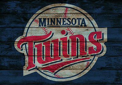 Mixed Media - Minnesota Twins Barn Door by Dan Sproul