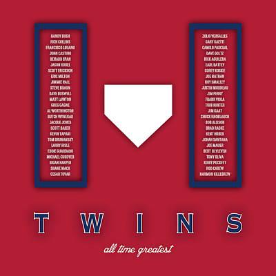 Minnesota Twins Digital Art - Minnesota Twins Art - Mlb Baseball Wall Print by Damon Gray