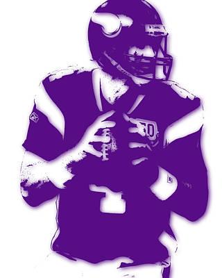 Minnesota Vikings Bret Favre Art Print by Joe Hamilton