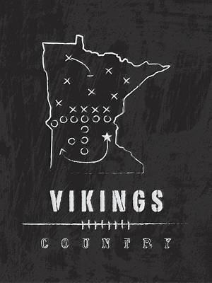 Minnesota Vikings Art - Nfl Football Wall Print Art Print by Damon Gray