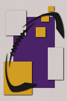 Football Painting - Minnesota Vikings Football Art by Joe Hamilton