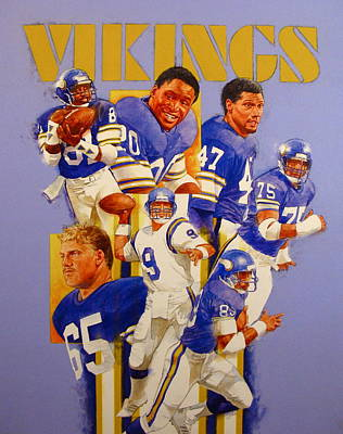 Minnesota Vikings Game Day Cover  Art Print by Cliff Spohn