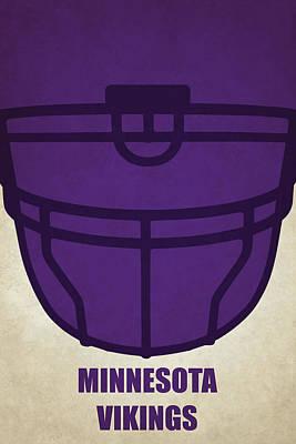 Painting - Minnesota Vikings Helmet Art by Joe Hamilton