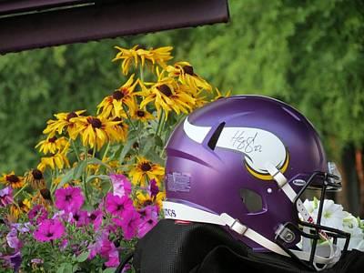 Minnesota Vikings Helmet Art Print
