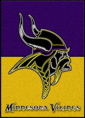 Digital Art - Minnesota Vikings Logo by Kyle West
