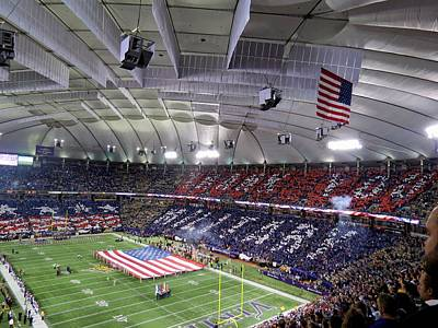 Photograph - Minnesota Vikings Tribute To The Troops by Kyle West