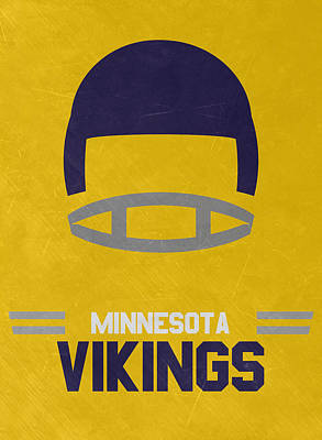 Mixed Media - Minnesota Vikings Vintage Art by Joe Hamilton