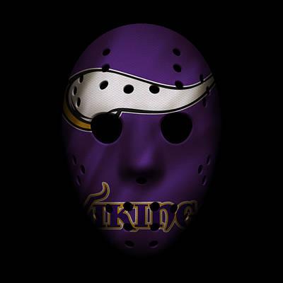 Minnesota Vikings Photograph - Minnesota Vikings War Mask by Joe Hamilton