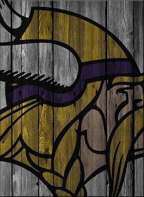 Photograph - Minnesota Vikings Wood Fence by Joe Hamilton
