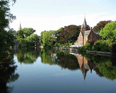 Minnetwaterpark Bruges Art Print by David L Griffin