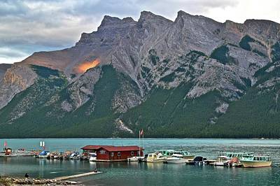 Photograph - Minnewanka As The Sun Goes Down by Frozen in Time Fine Art Photography