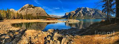 Photograph - Minnewanka Cove Panorama by Adam Jewell