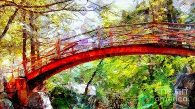Photograph - Minnewaska Wooden Bridge Over The Path - Wide  by Janine Riley